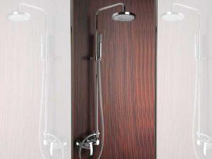 Levico-09 - Chrome-Komplett-Aufputz-Dusche