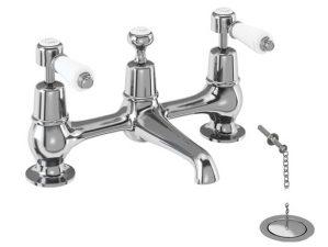 Kent-10 - Chrome-Waschbecken-Aufsatzarmatur