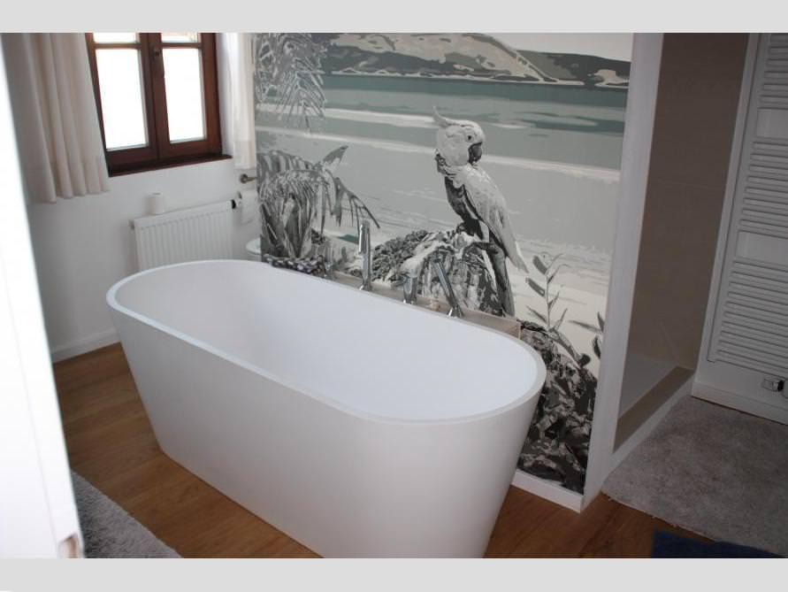 Badezimmer Idee mit der freistehenden Badewanne Bologna