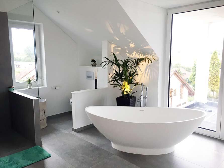 Badezimmer Ideen mit der freistehenden Badewanne Como