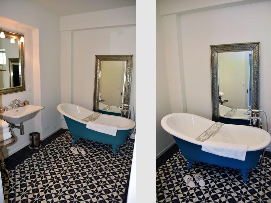Badezimmer ideen mit freistehende nostalgie badewanne - Nostalgie im badezimmer ...
