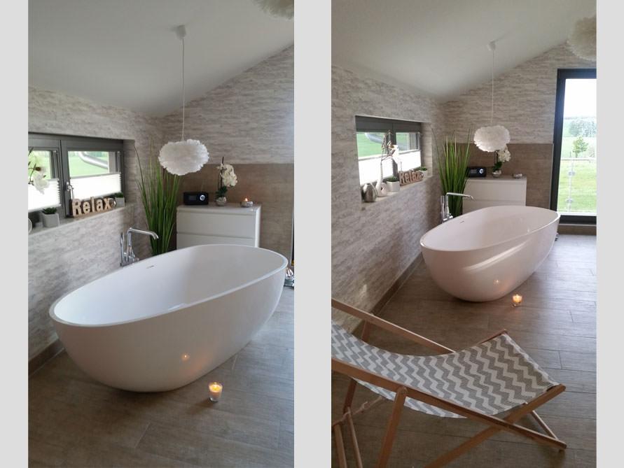 Badezimmer Idee mit der freistehenden Badewanne Luino Grande