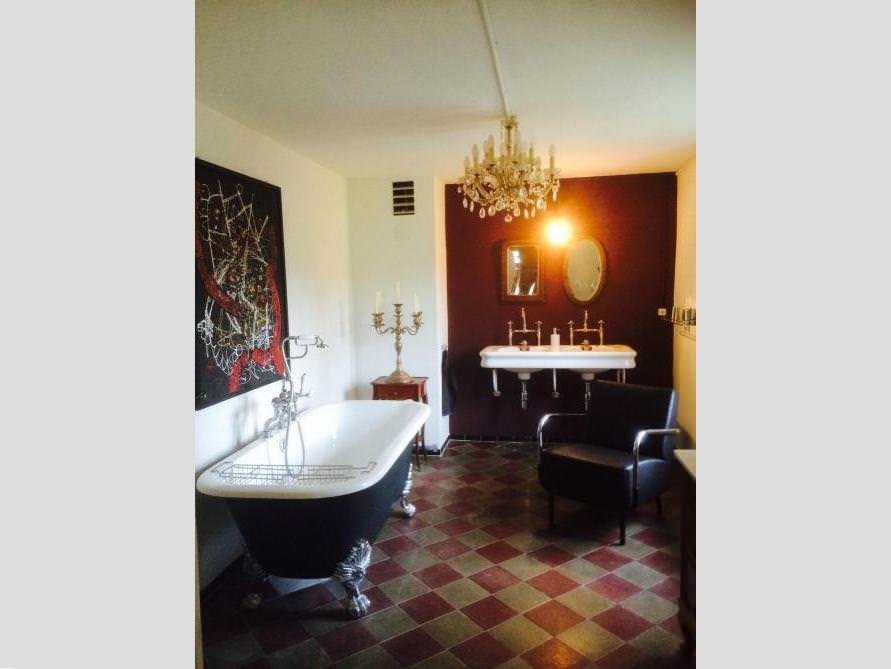 Badezimmer mit der freistehenden Nostalgie Badewanne Sheffield