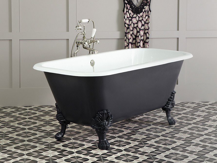 sheffield freistehende guss badewanne weiss 170 x 81 x 68 nostalgie duo. Black Bedroom Furniture Sets. Home Design Ideas