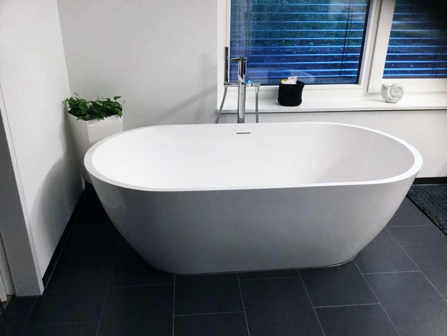 montecristo freistehende mineralguss badewanne weiss matt oder gl nzend 160 x 80 x 54. Black Bedroom Furniture Sets. Home Design Ideas